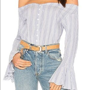 Free People March to the Beat Top Blue Combo Large